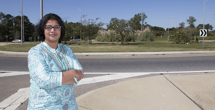 Dr. Samantha Islam, an associate engineering professor, has worked with the Alabama Department of Transportation to develop statewide operations guidelines on roundabouts.  She estimates there are about a dozen under way.