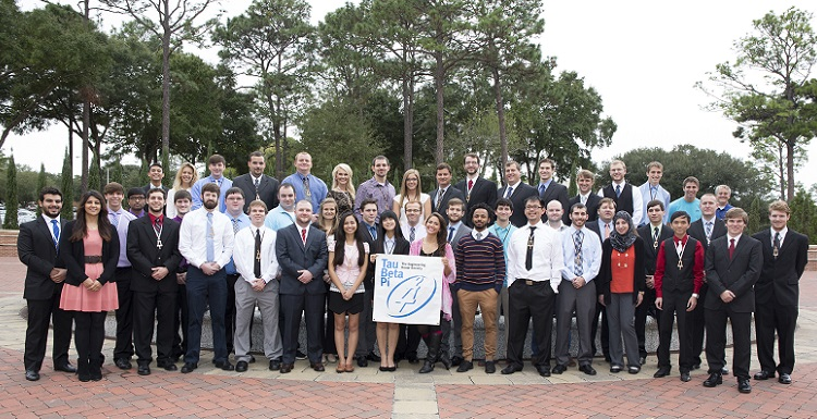 USA's chapter of the national engineering honor society Tau Beta Pi has been recognized as the best chapter in the country.  Pictured are new students initiated this fall plus some of the current members, which include 70 undergraduate and 19 graduate students.