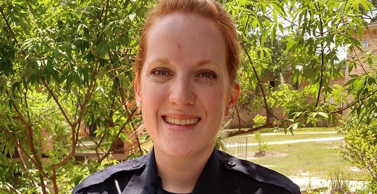 "USA Police Department Officer Mallory A. Ambrose, who graduated with honors from the Alabama Advanced Criminal Justice Academy, said ""I love that my job includes helping others and serving my community."