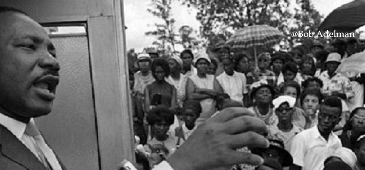 Dr. Martin Luther King, Jr., speaks in Camden, Ala.  Photo courtesy of Bob Adelman.