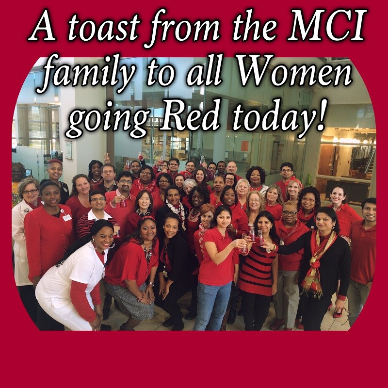 The Mitchell Cancer Institute won First Place in USA's Wear Red Day photo contest.