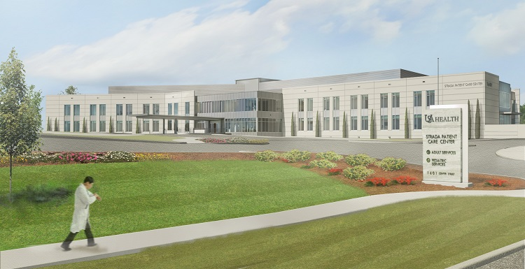 An artist rendering of the Strada Patient Care Center, which will open this summer.