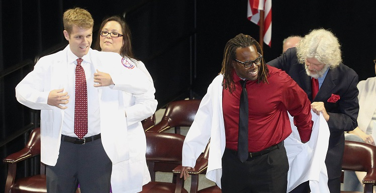 The White Coat ceremony marks a significant milestone for rising third-year students - the point where they begin their clinical rotations and start interacting with patients on a daily basis.