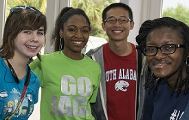 USA students at convocation, part of Week of Welcome.