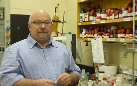Dr. James Davis, professor of chemistry, has discovered a naturally occurring ionic liquid, a category of liquid salt that has been synthetically engineered for industrial purposes.
