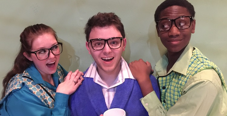 USA students, from left, Meghan Zuhowski, Blake Waters and Jeremiah Sims star in the musical, 'Schoolhouse Rock Live!' at the Laidlaw Performing Arts Center.