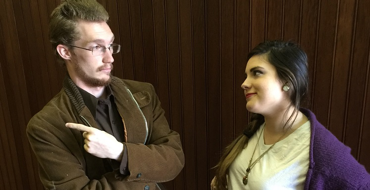 A seemingly random encounter between Adam (Brandon Mallette) and Evelyn (Gabrielle Brou) leads to a stunning climax in the Theatre USA production of Neil LaBute?s ?The Shape of Things,? playing Feb. 20-28 at the Laidlaw Performing Arts Center.
