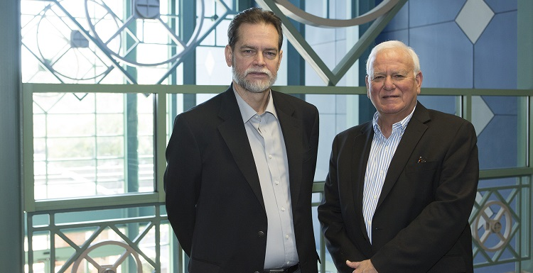 Dr. Steve Picou, right, founder and director of USA?s Coastal Resource and Resiliency Center, and Dr. Keith Nicholls, senior associate director, want to establish a clearer picture of ways the 2010 Gulf Coast oil spill affected coastal communities