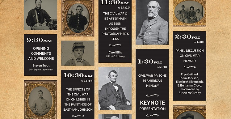 "read story, USA Center for the Study of War & Memory to Host ""The Civil War in History and Memory, 1865-2015"" on April 6"