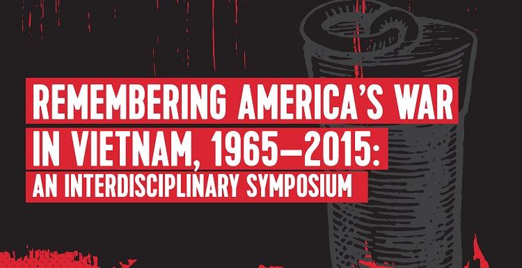 Remembering America's War in Vietnam poster advertising an interdisciplinary symposium