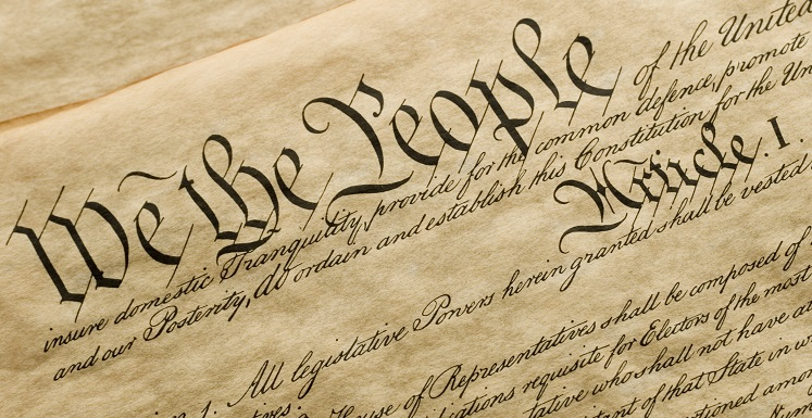 cropped image of the Constitution of the United States