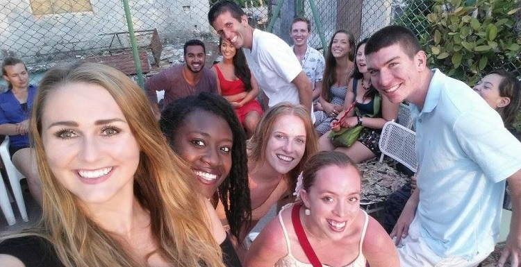 Ethan Hamilton, far right, joined other college students from the United States in a study abroad program in Cuba.