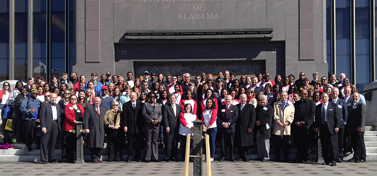 About 225 University of South Alabama students, faculty and staff were in Montgomery on Thursday for Higher Education Day.