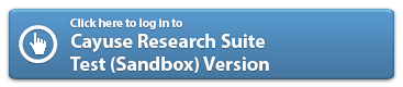 Evisions Research Suite - Test (Sandbox) Version
