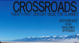 Kip Franklin received a 2017 SGSAH award to fund production of his first CD. Photo is the cover of Kip Franklin: Crossroads: Twenty-First Century Music for Clarinet