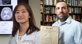 History professor David Meola and Oncologic Science professor Erin Ahn.