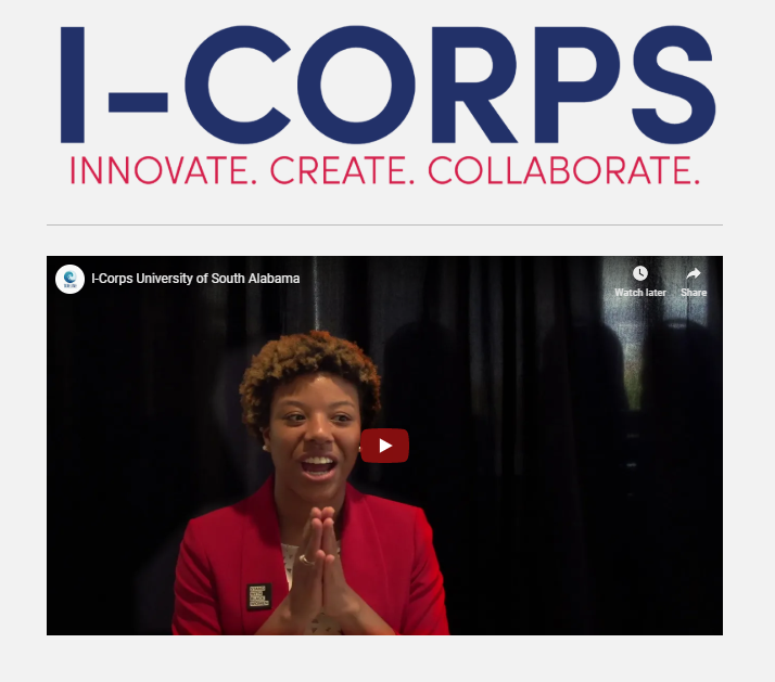 Screen shot of video on I-Corps website.