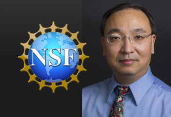 Professor K.T. Hsiao and NSF logo