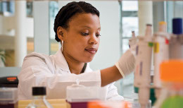 Woman working in lab