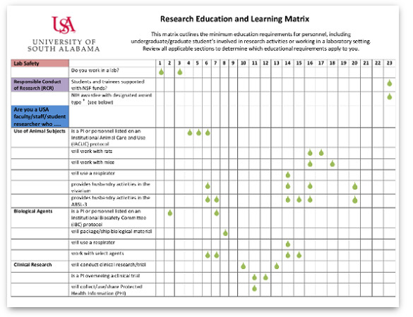 Research and Laboratory Safety Training Matrix thumbnail image