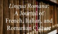 Journal cover for Lingua Romana