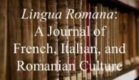 Journal cover for Lingua Romana