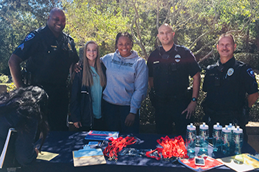 SGA with Police Officers