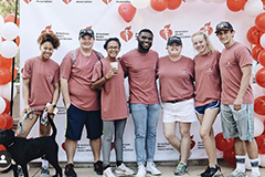SGA group image at heart walk.