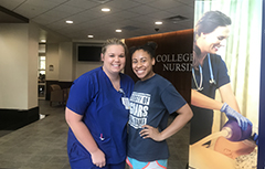 College of Nursing Student with SGA Student