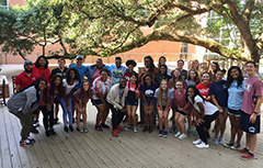 SGA group image outside of Campu Rec under a tree