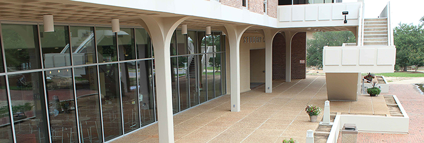 patio at the student center