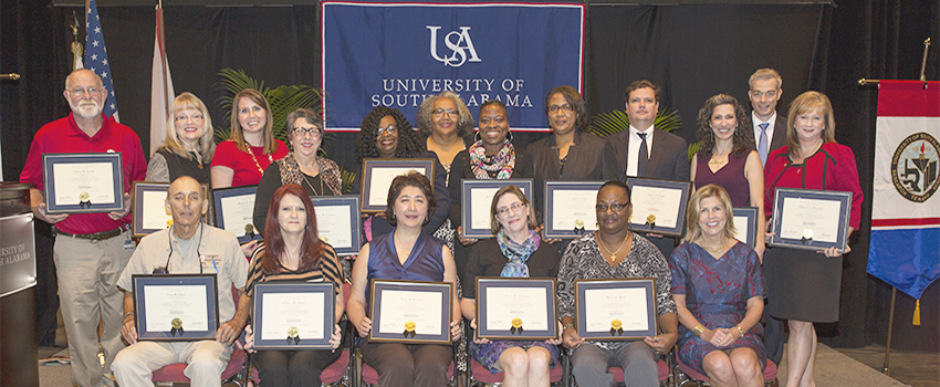 The USA National Alumni Association is honored to recognize and celebrate faculty and staff success, achievement, and dedication through the presentation of the following awards: