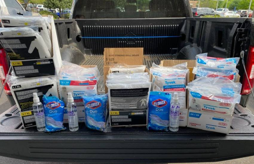 Gifts of meals and snacks, PPE and supplies stream into USA Health hospitals to support staff on the front lines.