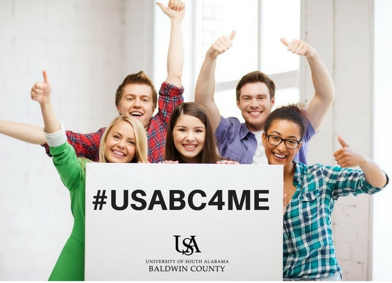 Students with USABC4ME poster