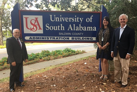 The University of South Alabama Baldwin County has awarded Erin Byrd the Bob Lager Endowed Scholarship of $1,986