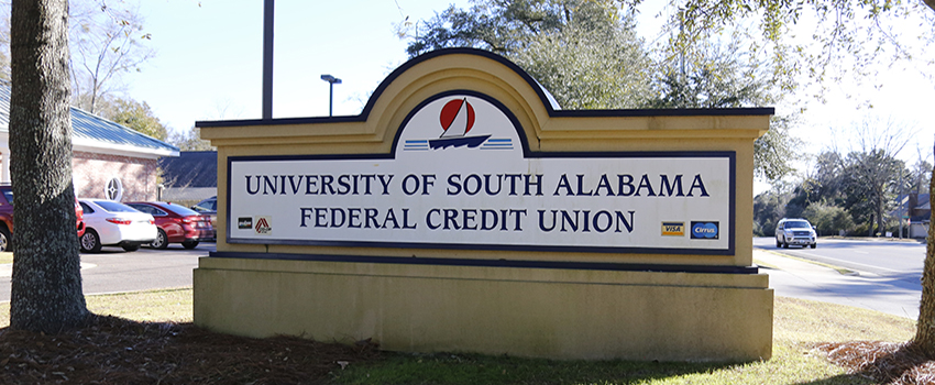 USA Credit Union Sign outside of the building