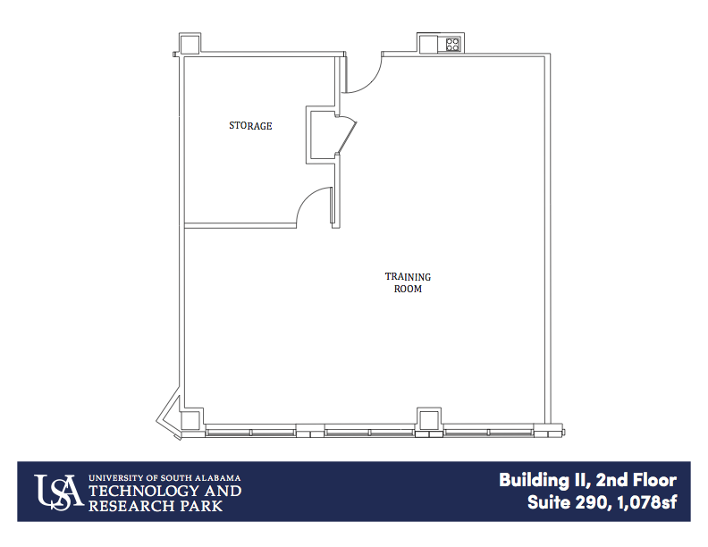 Building II, 1st Floor Suite 290 1,078 sf