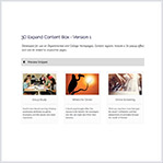 3D Expand Content Box with Image, Title and Description