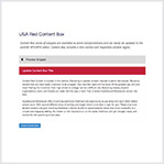 USA Red Content Box