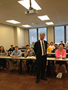 FMA met on January 19, and the guest speaker was Stephen Baker from Merrill Lynch.