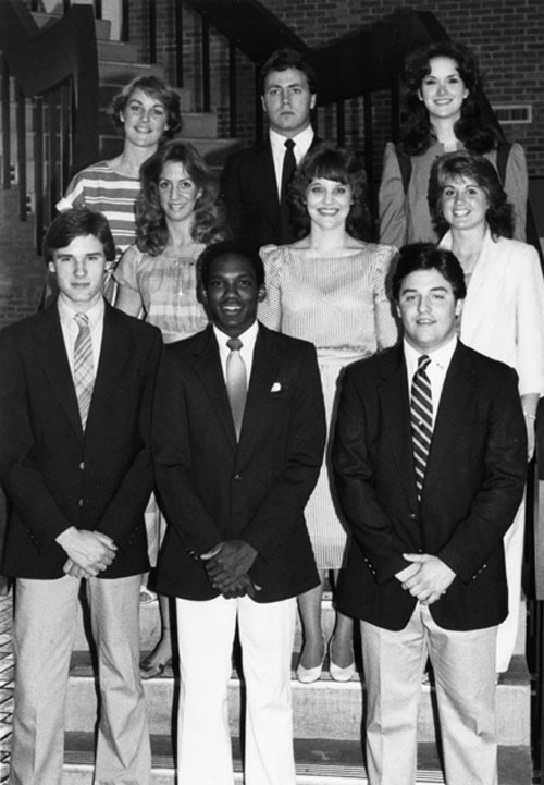 Members of the Southerners, USA's official host organization, 1988.