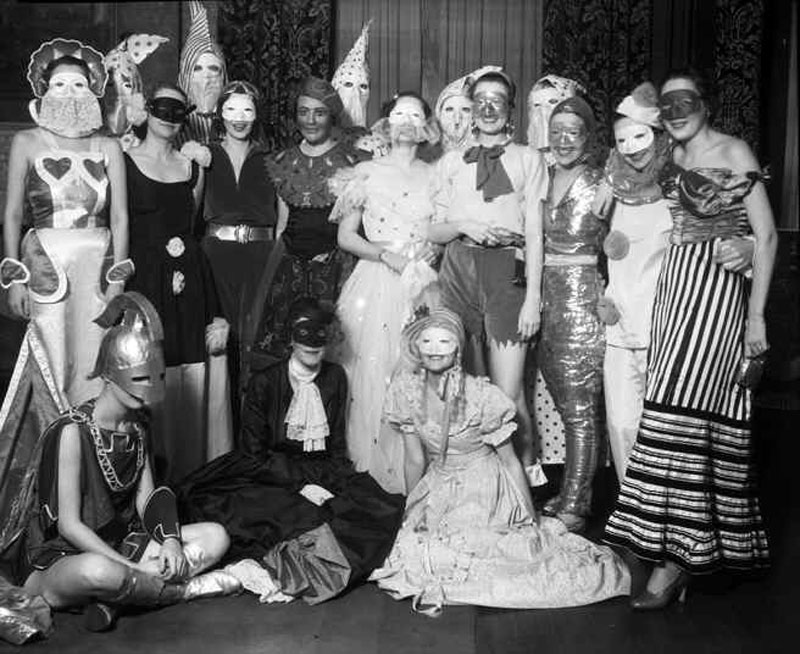 Trick or Treat! Whether ghost or ghoul, angel or devil, ballerina or racecar driver, we all love to dress up for Halloween—just as these people did 90 years ago.