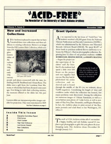 Acid-Free Newsletter