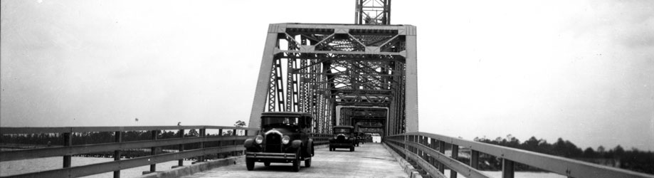 The Cochrane Bridge was a conduit for travel between Mobile and the Eastern Shore. It was completed in 1927.