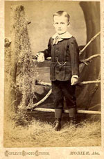 Lee O. Cummins, the Drago Band cornetist, as a young man