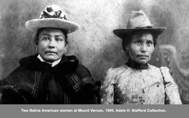 native american women at mt. vernon