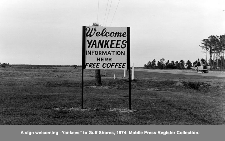 sign welcoming yankees