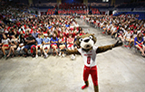 Southpaw in front of freshman crowd in mitchell center