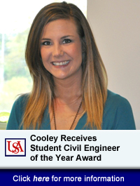 Cooley Receives Student Civil Engineer of the Year Award