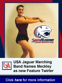 USA Jaguar Marching Band Names Meckley as new Feature Twirler